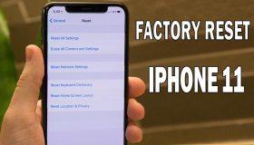 factory reset iphone 11