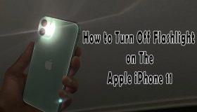 turn off flashlight on iphone 11