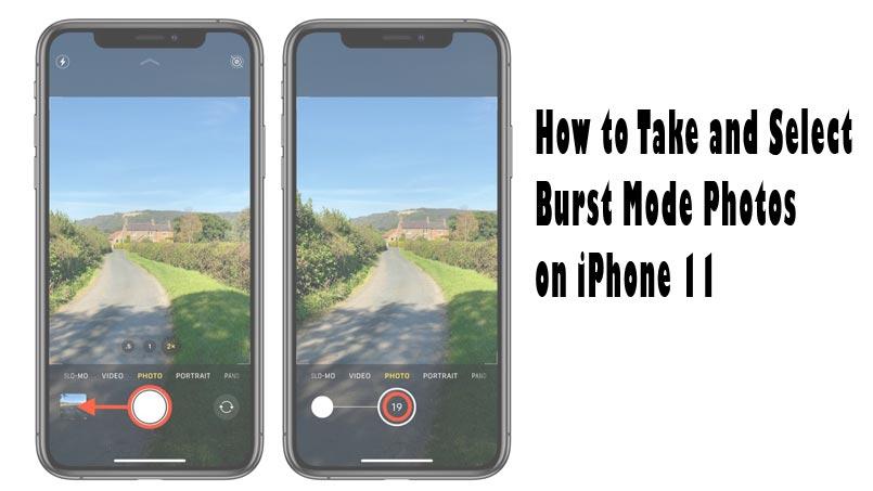 burst mode on iphone-11