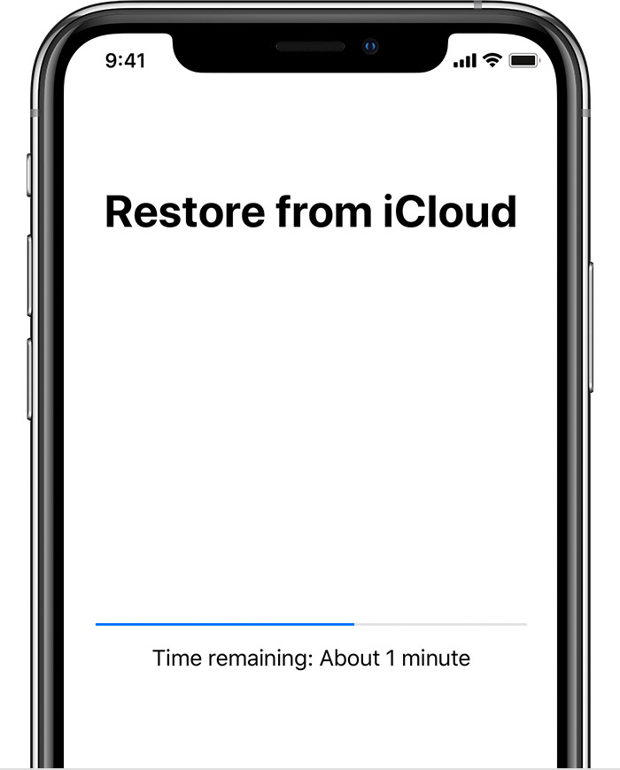 iphone 11 restore progress