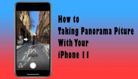 taking panorama on iphone 11