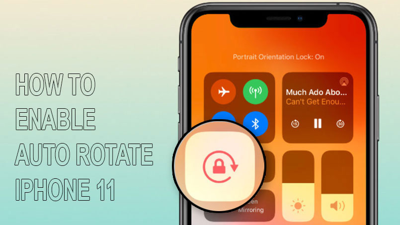 screen rotate iphone 11