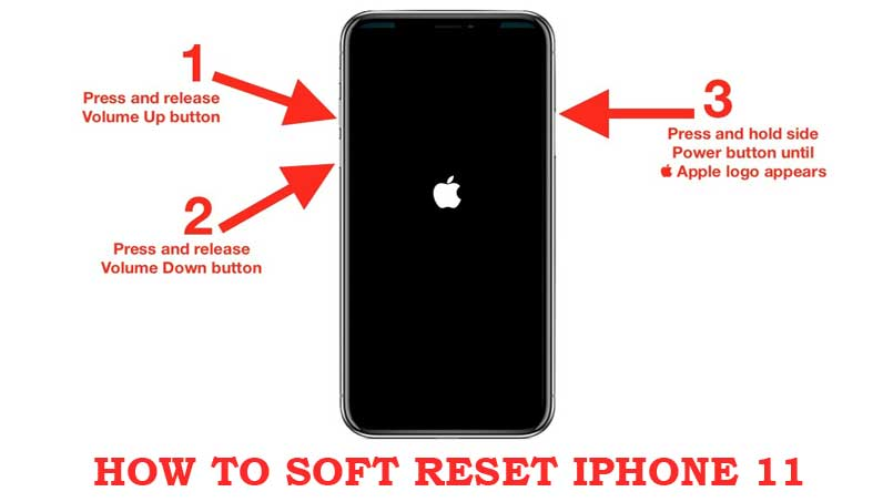 soft reset iphone 11